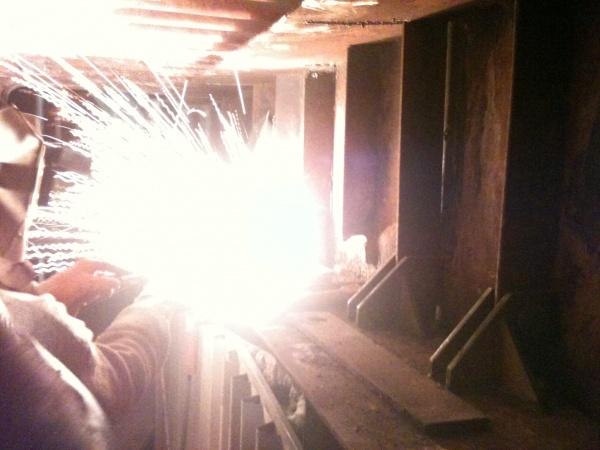 Reinforcement of Boiler Echo Bunker brackets